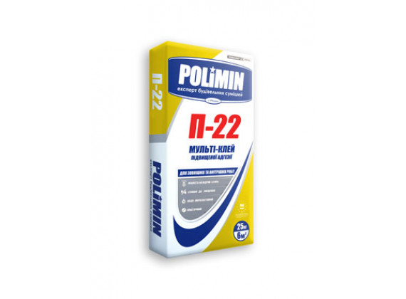 Клей для плитки повышенной адгезии Полимин П-22