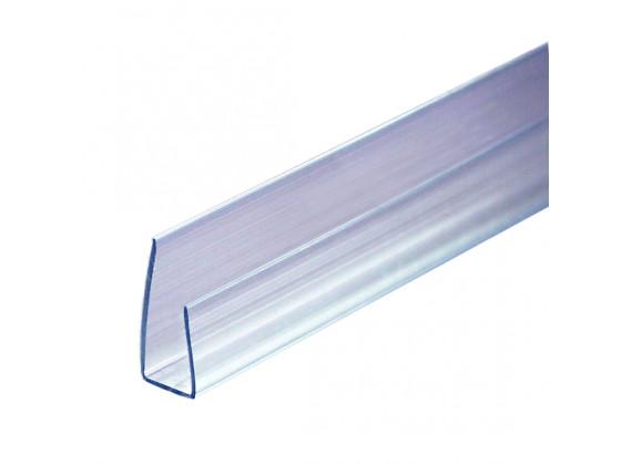 Торцевой профиль для поликарбонатных листов прозрачный 10мм