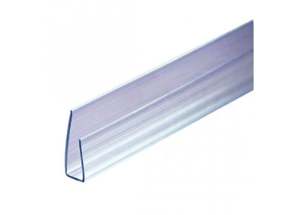 Торцевой профиль для поликарбонатных листов прозрачный 8м