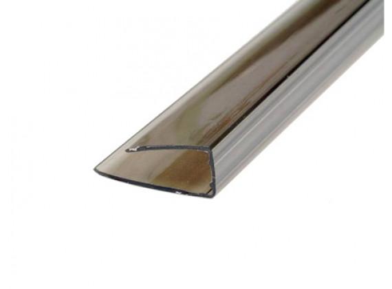 Торцевой профиль для поликарбонатных листов бронза 10мм