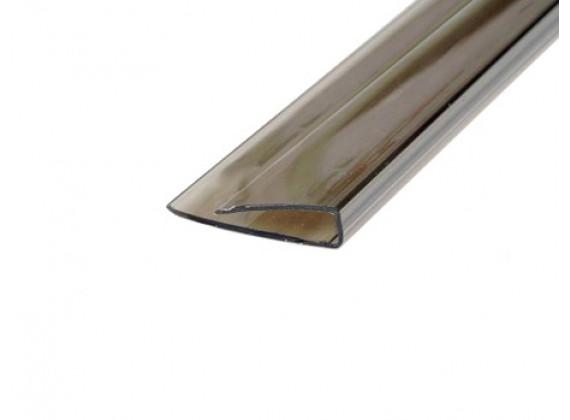 Торцевой профиль для поликарбонатных листов бронза 4мм