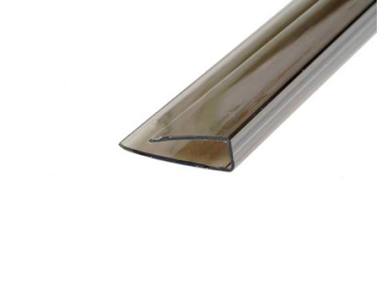 Торцевой профиль для поликарбонатных листов бронза 6мм