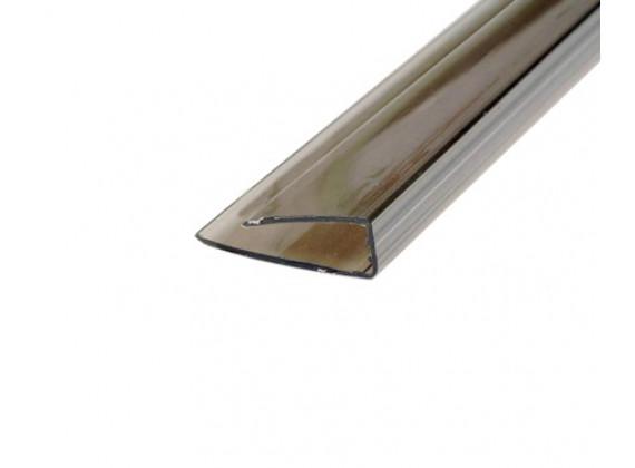 Торцевой профиль для поликарбонатных листов бронза 8мм