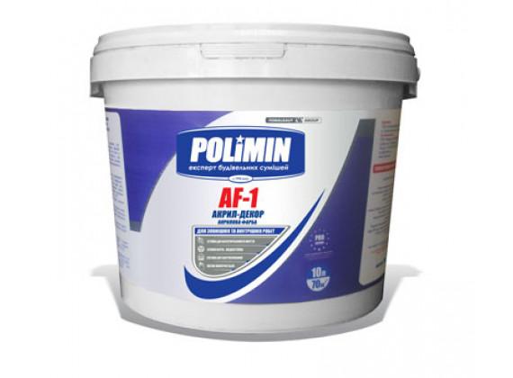 Фасадная латексная краска Полимин AF-1 Акрил-декор