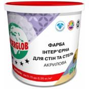 Краска акриловая ANSERGLOB 14кг интерьерная для стен и потолка