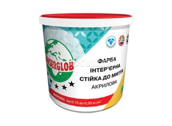 Краска акриловая ANSERGLOB 14кг интерьерная стойкая к мытью