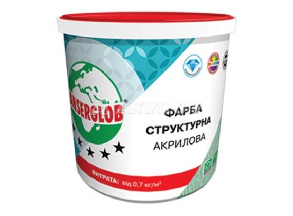 Краска структурная ANSERGLOB 14 кг акриловая