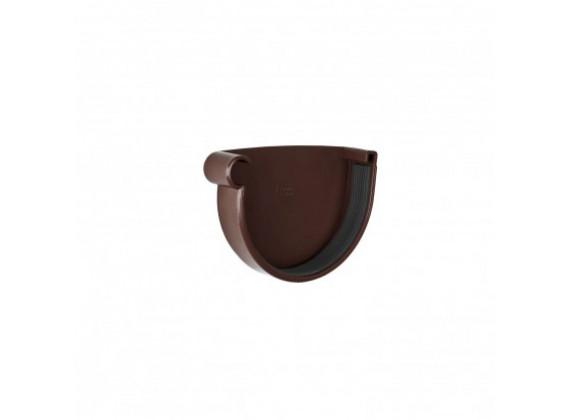 Заглушка желоба d130 мм правая, коричневый, Rainway