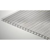 Сотовый поликарбонат 10 мм прозрачный SKYPLAST 2100х12000мм