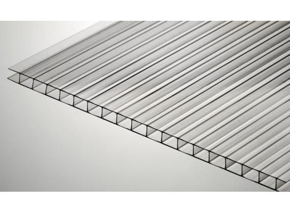 Сотовый поликарбонат 4 мм прозрачный SKYPLAST 2100х6000мм