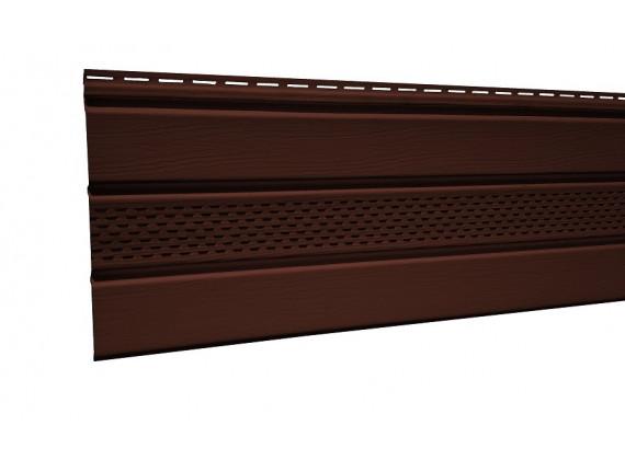 Панель потолачная с перфорацией Royal soffit brawn