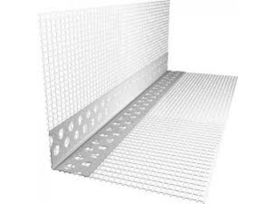 Уголок перфорированный алюминиевый с сеткой 3м