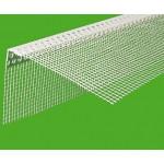 Уголок перфорированный пластиковый с сеткой (широкий) 3м