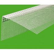 Уголок перфорированный пластиковый с сеткой 3м (широкий)