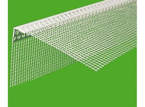 Уголок перфорированный пластиковый с сеткой 3м